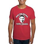 End the drama, Vote Obama Dark T-Shirt