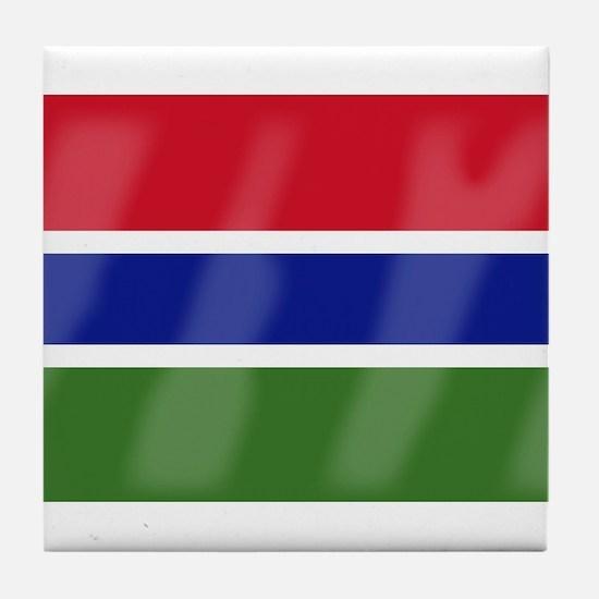 Gambia Flag Tile Coaster