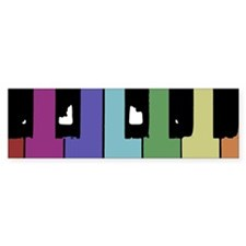 Piano Keys Bumper Car Sticker