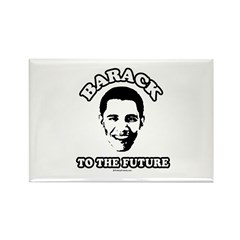 Barack to the future Rectangle Magnet