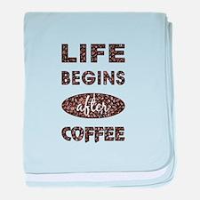 LIFE BEGINS AFTER... baby blanket