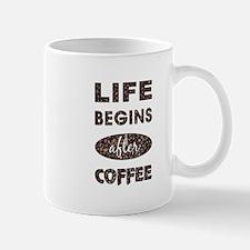 LIFE BEGINS AFTER... Mugs