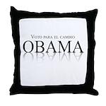 Voto para el cambio: Obama Throw Pillow