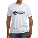 Obama for Peace Fitted T-Shirt