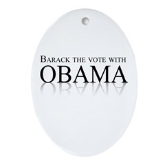 Barack the vote with Obama Oval Ornament