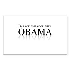 Barack the vote with Obama Rectangle Decal