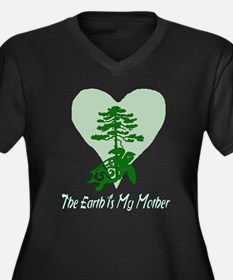 The Earth Is My Mother Women's Plus Size V-Neck Da