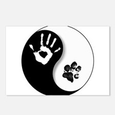 Funny Yin yang Postcards (Package of 8)