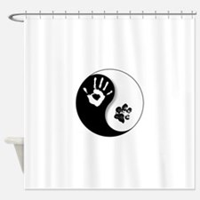 Unique Yin yang Shower Curtain