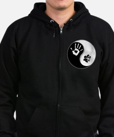 Unique Dog my best friend Zip Hoodie