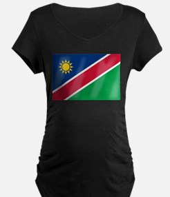 Namibia Flag Maternity T-Shirt