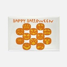 Halloween Jack-O-Lanterns Rectangle Magnet