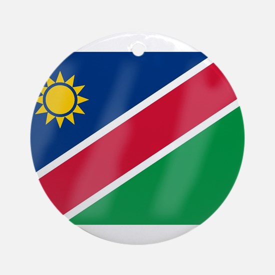 Namibia Flag Round Ornament