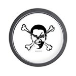 Obama crossbones Wall Clock