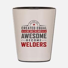 Cute Welder Shot Glass