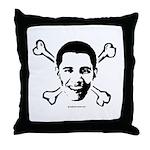 Obama crossbones Throw Pillow