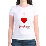 I Love Of Yeshua Jr. Ringer T-shirt