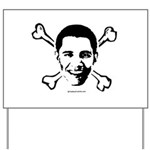 Obama crossbones Yard Sign