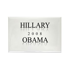 Hillary Obama 2008 Rectangle Magnet (10 pack)