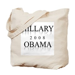 Hillary Obama 2008 Tote Bag