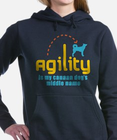 Cute Canaan dog Women's Hooded Sweatshirt