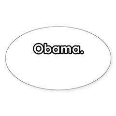 Obama period Oval Decal