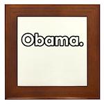 Obama period Framed Tile