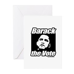 Barack the vote Greeting Cards (Pk of 10)