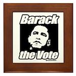 Barack the vote Framed Tile