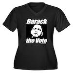 Barack the vote Women's Plus Size V-Neck Dark T-Sh