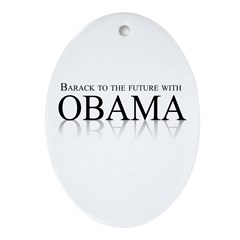 Barack to the future with Obama Oval Ornament