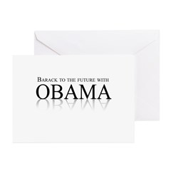 Barack to the future with Obama Greeting Cards (Pk