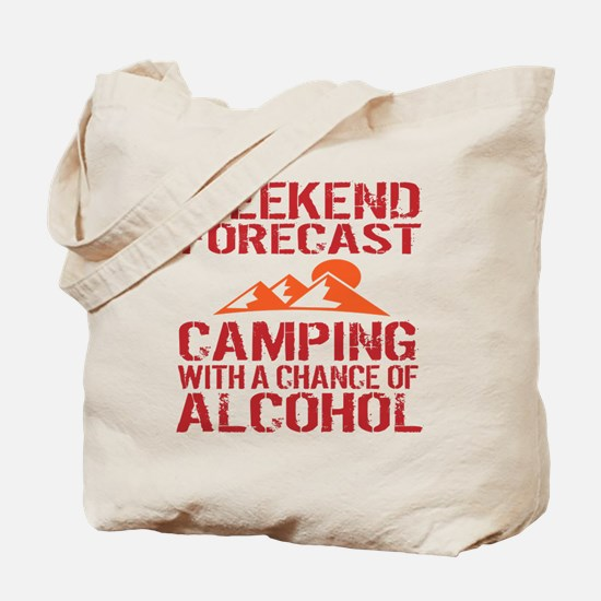 Funny Camping Tote Bag