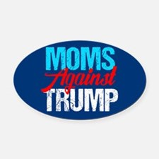 Moms Against Trump Oval Car Magnet