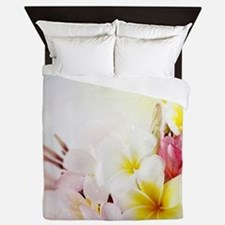 Cute Hawaiian flowers Queen Duvet