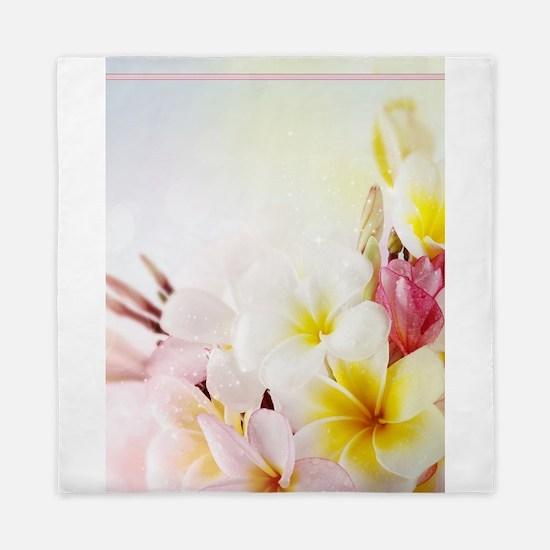 Funny Hawaiian flowers Queen Duvet