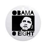 Obama 2008: Obama O eight Ornament (Round)