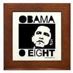 Obama 2008: Obama O eight Framed Tile