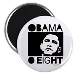 Obama 2008: Obama O eight Magnet