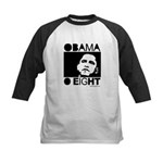 Obama 2008: Obama O eight Kids Baseball Jersey
