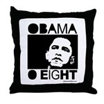 Obama 2008: Obama O eight Throw Pillow