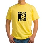 Obama 2008: Obama O eight Yellow T-Shirt