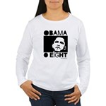 Obama 2008: Obama O eight Women's Long Sleeve T-Sh