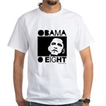 Obama 2008: Obama O eight White T-Shirt