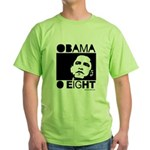 Obama 2008: Obama O eight Green T-Shirt