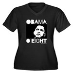 Obama 2008: Obama O eight Women's Plus Size V-Neck