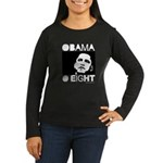 Obama 2008: Obama O eight Women's Long Sleeve Dark