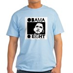 Obama 2008: Obama O eight Light T-Shirt