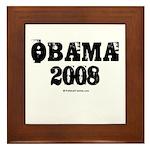 Vintage Obama 2008 Framed Tile