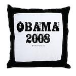 Vintage Obama 2008 Throw Pillow